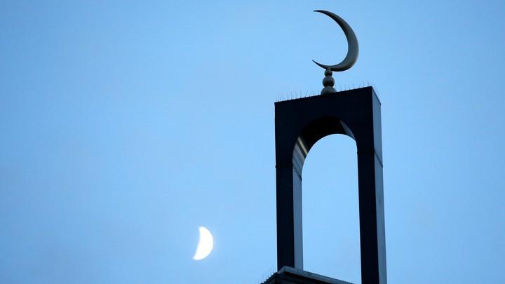 The minaret of a mosquein Creteil near Paris, France