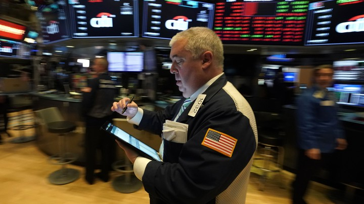A man inside the Stock Exchange