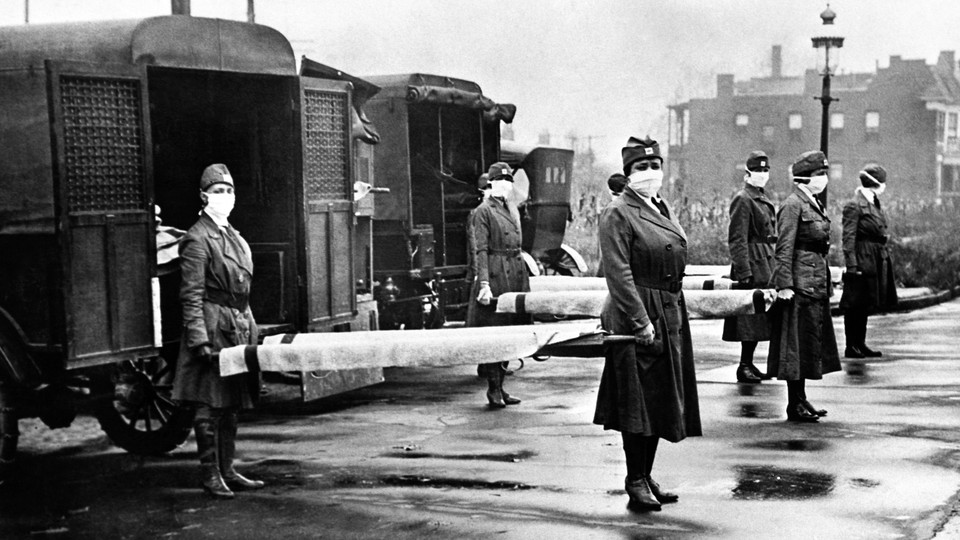 The Red Cross Motor Corps in St Louis, Missouri, October 1918.