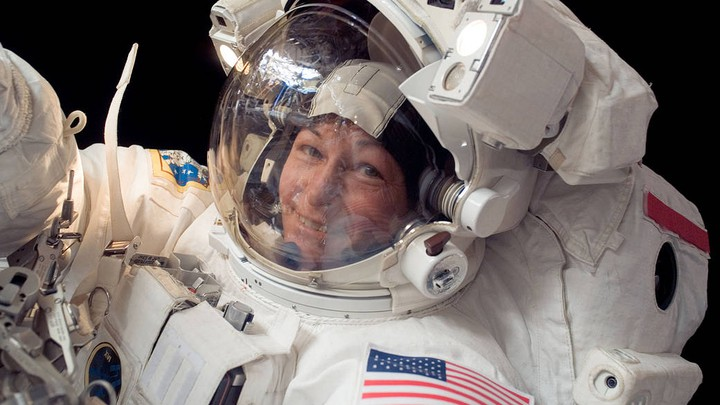 Peggy Whitson, the American record holder for time spent in space