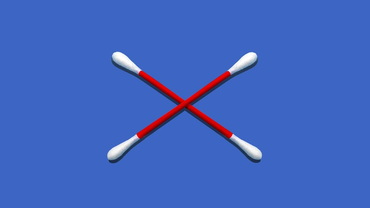 Two swabs forming an ex