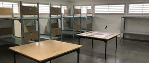 Beds in the West Wing homeless shelter at the King County Jail in Seattle, Washington.