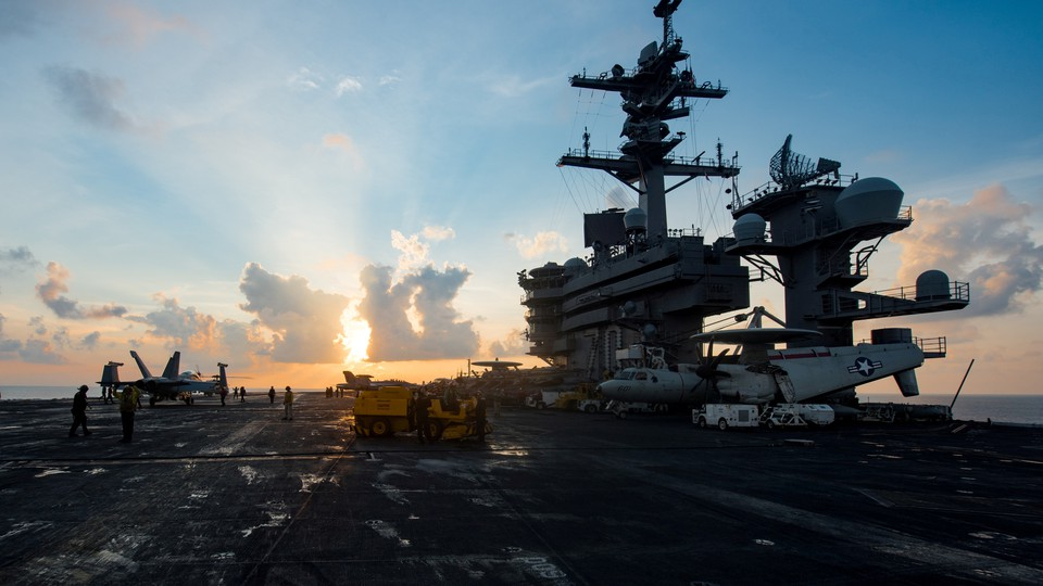 The USS <i>Carl Vinson</i> in the South China Sea on April 8