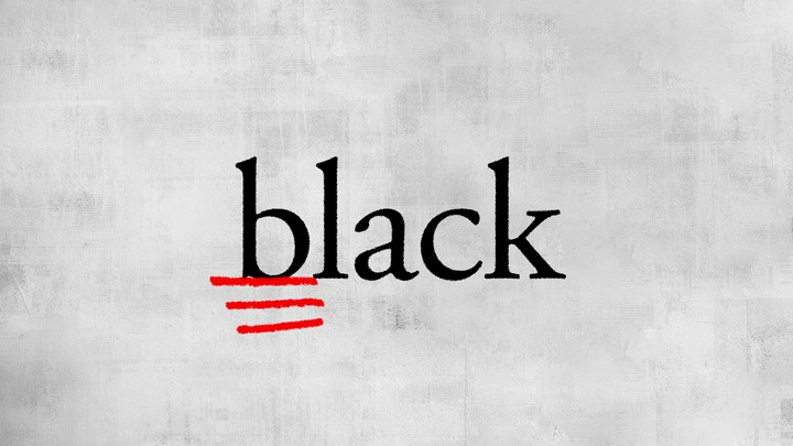 "An illustration of the word ""black"" with the letter b underlined."
