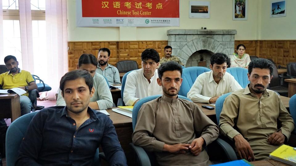 Students in the army-sponsored class at the Karakoram International University in Gilgit