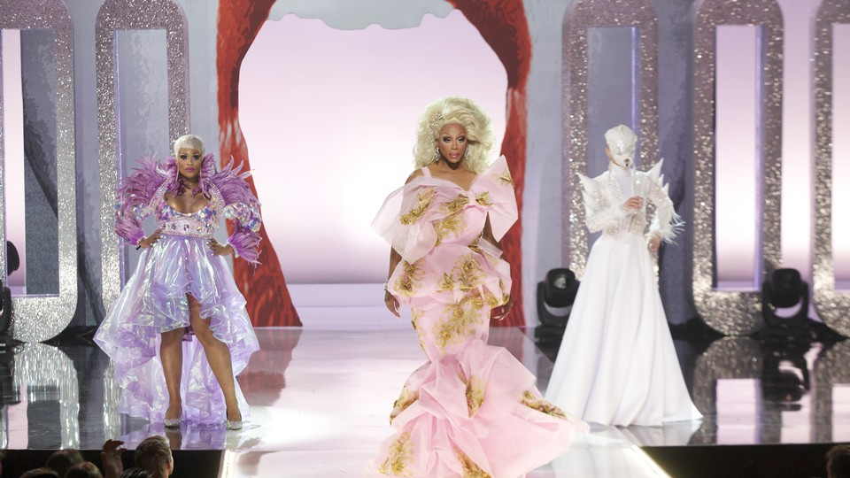 Peppermint, RuPaul, and Sasha Velour at the Season 9 finale