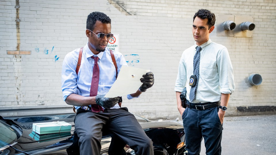 Chris Rock and Max Minghella as police officers in 'Saw'