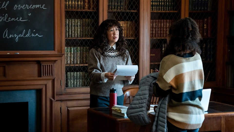 Sandra Oh in a scene from 'The Chair'