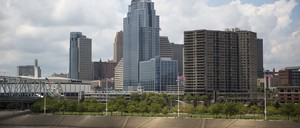 The Cincinnati skyline and river