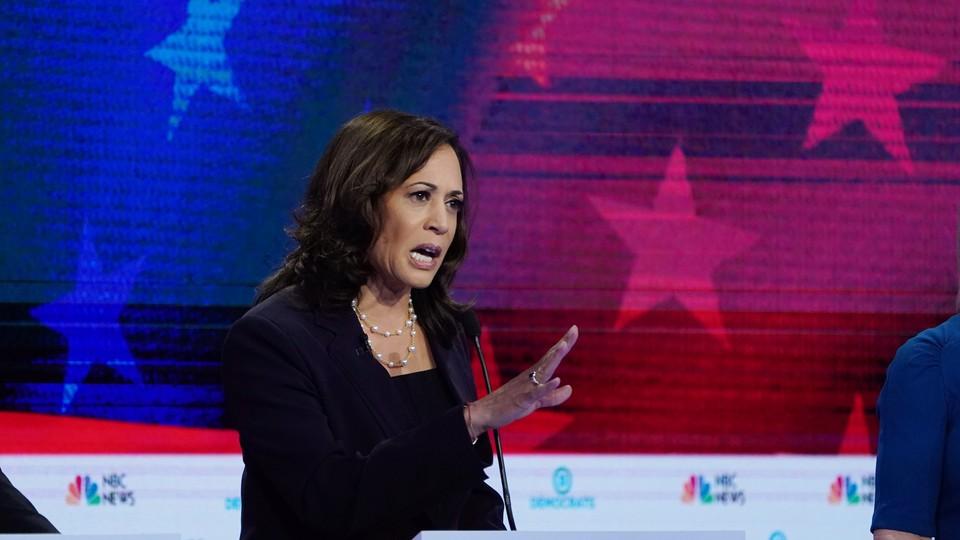 Kamala Harris at the presidential-primary debates