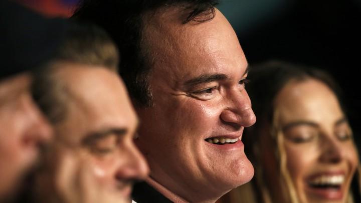 Leonardo DiCaprio, Quentin Tarantino, and Margot Robbie