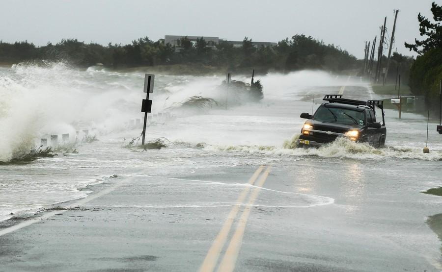 During Hurricane Sandy