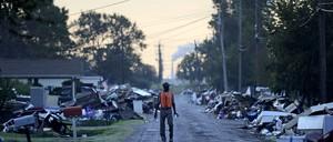 Port Arthur, Texas, on September 28, 2017, in the wake of the destruction of Hurricane Harvey.