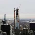 Construction of new skyscrapers on the New York skyline.