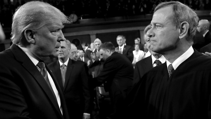 Donald Trump and John Roberts