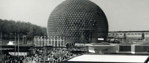 Buckminster Fuller's Biosphere as it appeared during Montreal's Expo 67.