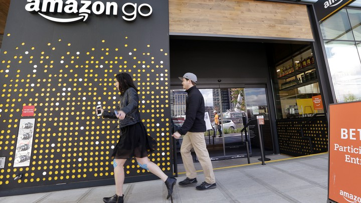 The Amazon Go store, in Seattle