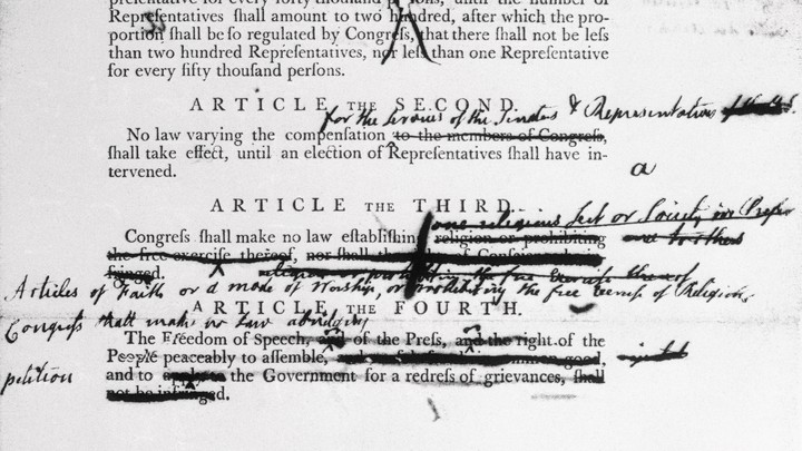 A marked up copy of the Constitution