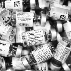 Vials of Johnson & Johnson's COVID-19 vaccine