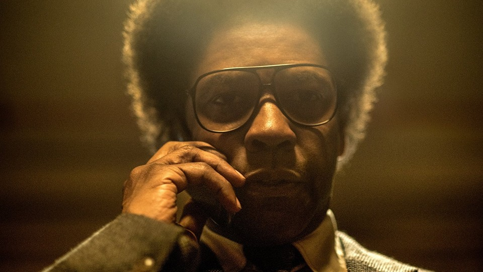 Denzel Washington in the film 'Roman J. Israel, Esq.'