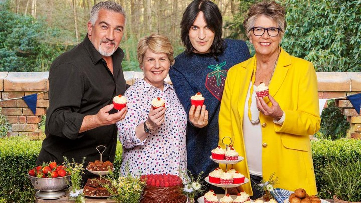 Paul Hollywood, Sandi Tiksvig, Noel Fielding, and Prue Leith star in the updated series 'The Great British Bake Off,' which aired on Tuesday in the U.K. on Channel 4