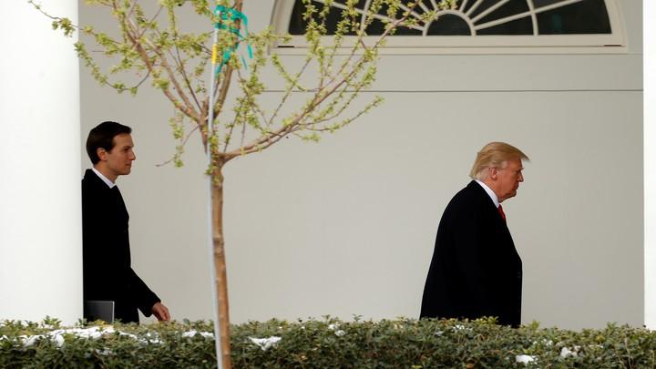 Jared Kushner and President Trump at the White House