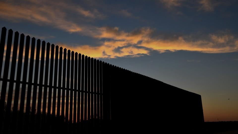 Border fence in the Rio Grande Valley