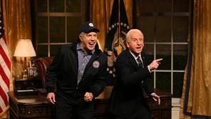 """Jason Sudeikis and James Austin Johnson as Joe Biden on """"SNL"""""""