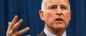 California Governor Jerry Brown is pictured.
