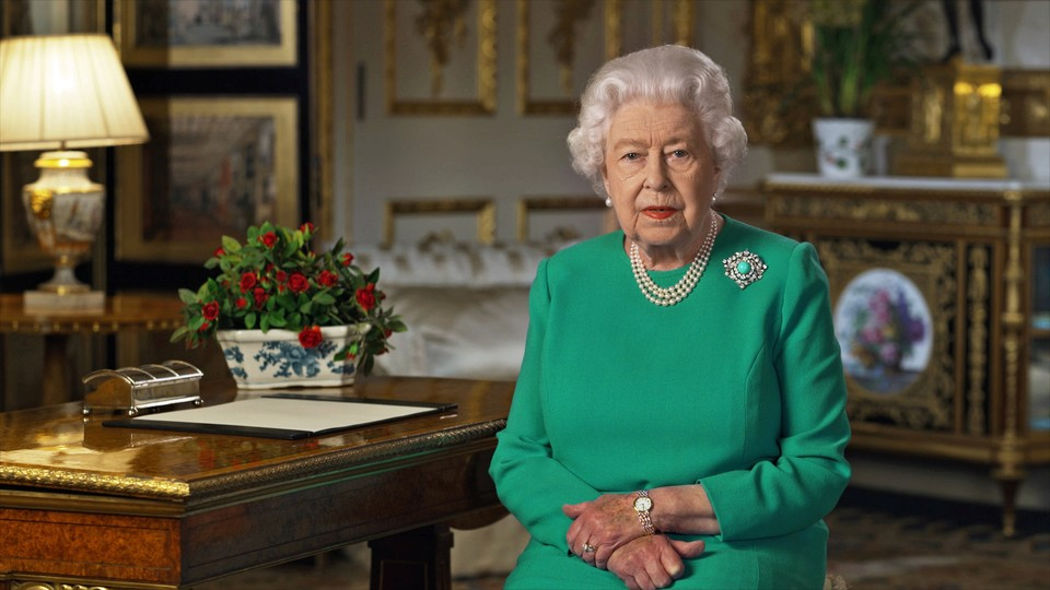 The Queen addresses the nation from Windsor Castle.