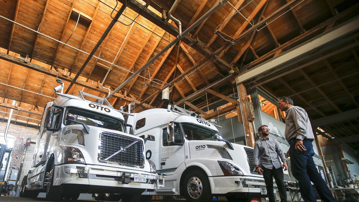 Workers at Otto, Uber's self-driving truck company