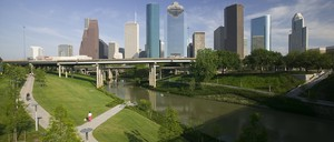 Houston's Buffalo Bayou Promenade, designed by SWA Group.
