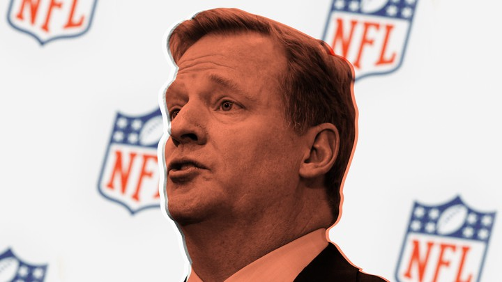 Roger Goodell, Commissioner of the National Football League, speaks at a news conference announcing an Initiative to improve the diagnosis and treatment of brain injuries in New York on March 11, 2013.