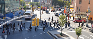 New York City's pedestrian safety improvement projects have reduced fatalities.