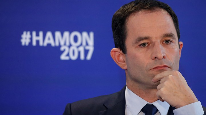 France's Socialist presidential candidate Benoît Hamon attends a news conference in Paris, France on March 10, 2017.