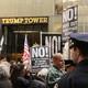 Protestors outside Trump Tower