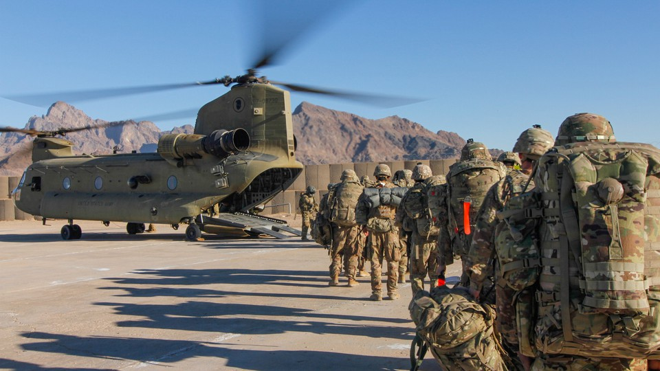 American soldiers in Afghanistan on January 15, 2019