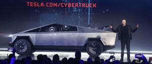 photo: Elon Musk and a Tesla Cybertruck