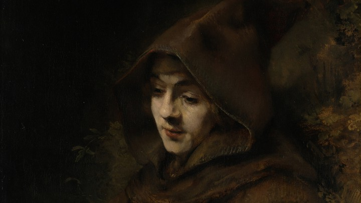 A Rembrandt painting of his son Titus in monk's habit