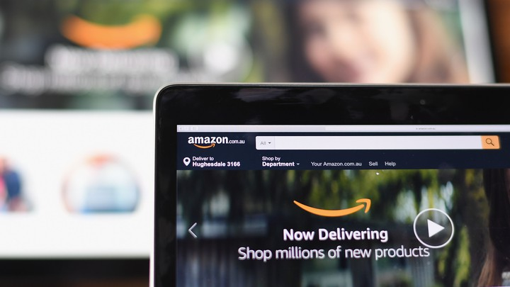 A computer screen showing Amazon's Australia homepage