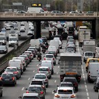 a photo of traffic on the ring road outside Paris.