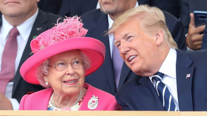 Queen Elizabeth II and Donald Trump attend a D-Day commemoration event in Portsmouth, England.