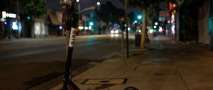 a photo of a Bird scooter in L.A.