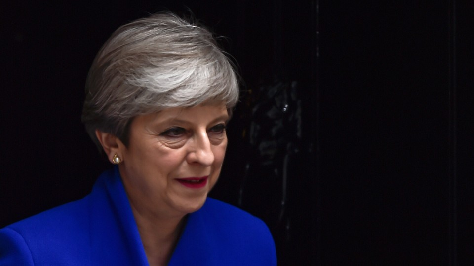 Britain's Primer Minister Theresa May leaves Downing Street.