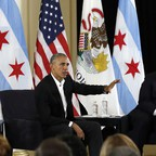 Former president Barack Obama has been playing defense in his adopted hometown over the plans for his Presidential Center