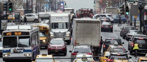 Traffic on 42d St. in New York City.