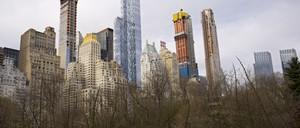 New luxury condo towers rise on 'Billionaire's Row' in Manhattan.