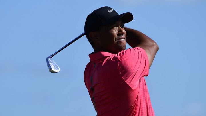 Tiger Woods tees off from the second hole of the Hero World Challenge.