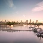 Renderings for London's Garden Bridge