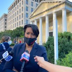 photo: Washington, D.C., Mayor Muriel Bowser speaks to reporters on June 1, after a weekend of widespread protests against police violence.